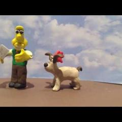 Gromit scares Wallace