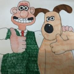 My artwork of Wallace and Gromit