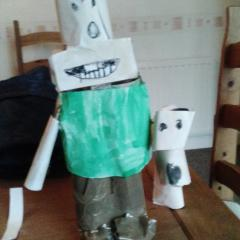 Cardboard Wallace and Gromit