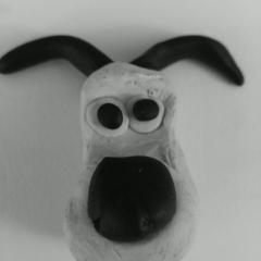 Black and white gromit