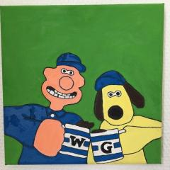 wallace and gromit in Stretched Canvas