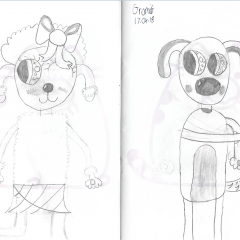 Gromit and Fluffles Kawaii Sketches