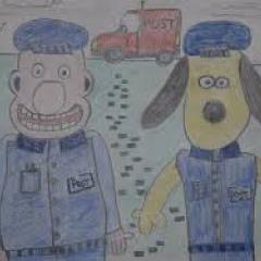 Wallace and Gromit Police men at work