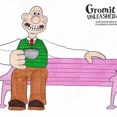 Wallace sitting on the bench
