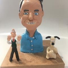 Nick Park Caricature Sculpture