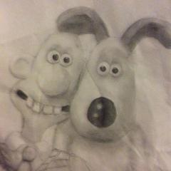 Wallace and Gromit drawing