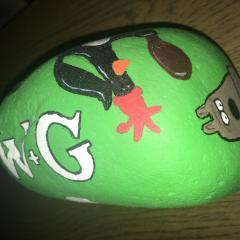 W&G Hand Painted Rock