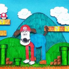 Gromit in Super Mario World