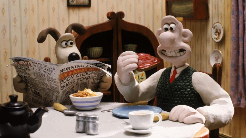 Wallace and Gromit drop in some cheer