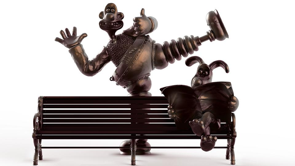 Wallace & Gromit Celebrated in Sculpture and Bench!